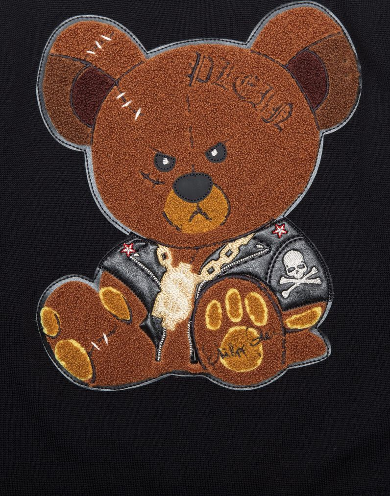 """Pullover Round Neck LS """"Teddy and Skull"""""""