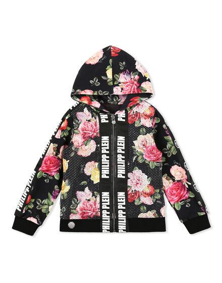 Hoodie Sweatjacket Flowers