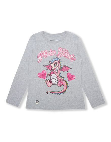 T-shirt Round Neck LS Dragon