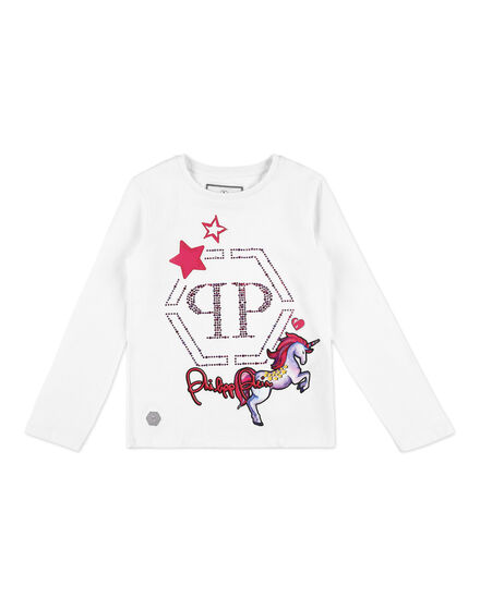 T-shirt Round Neck LS Unicorn