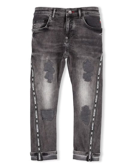Denim Trousers Skull