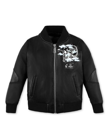 Leather Bomber Monogram