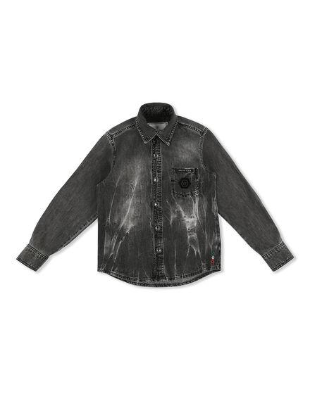 Denim Shirt Ls Patches