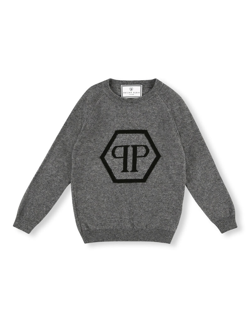 Pullover Round Neck LS Hexagon