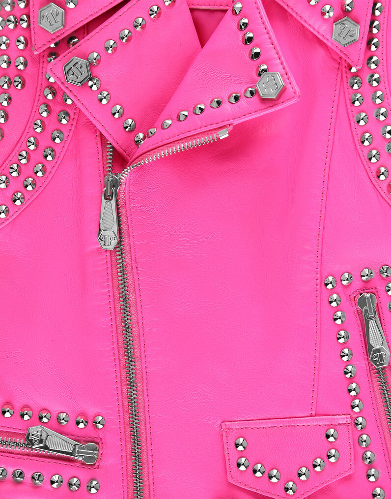 Leather Vest Short Studs