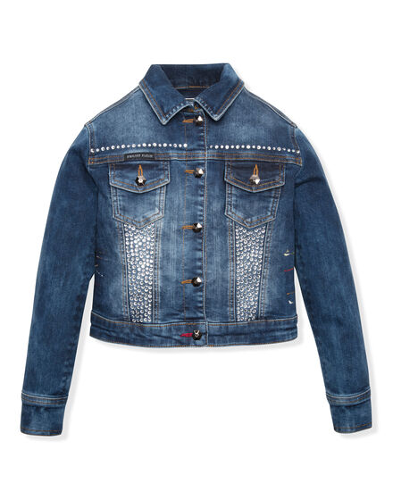 Denim Jacket Big logo