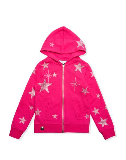 Hoodie Sweatjacket Plein Star