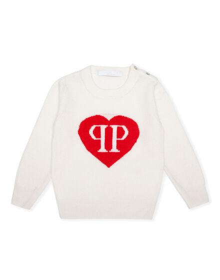 Pullover Round Neck LS Love Plein