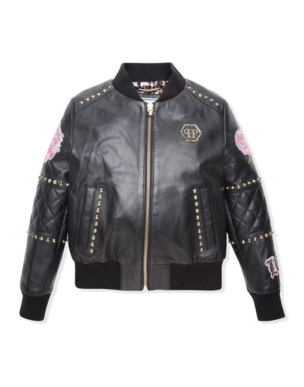 Leather Bomber Haze