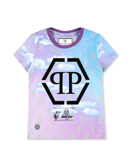 T-shirt Round Neck SS NO STONES Clouds