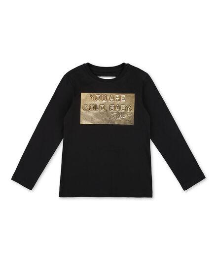 T-shirt Round Neck LS Gold