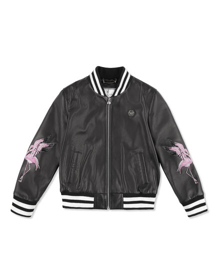Leather Bomber Jungle