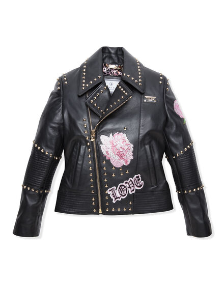 Leather Biker Plein Girls