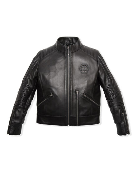 Leather Moto Jacket Relax