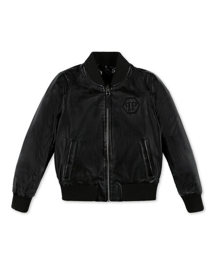 Leather Bomber Hexagon