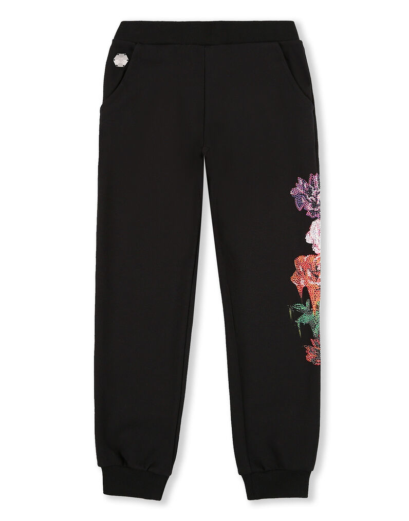 Jogging Trousers Crystal Flowers