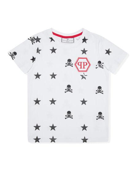 T-shirt Round Neck SS Stars & Skulls