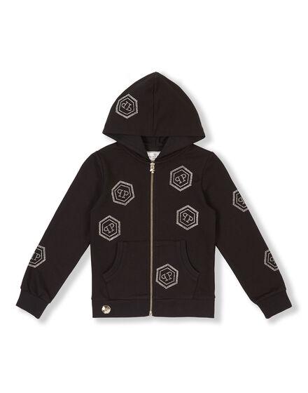 Hoodie Sweatjacket Crystal