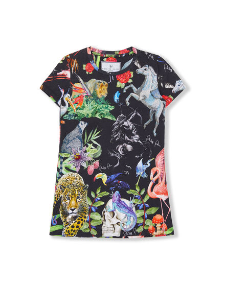 T-Shirt Short Dresses Jungle