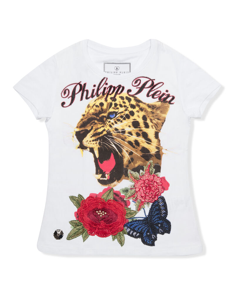 """T-shirt Round Neck SS """"Crystel but tiger"""""""