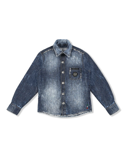 Denim Shirt Ls Patches