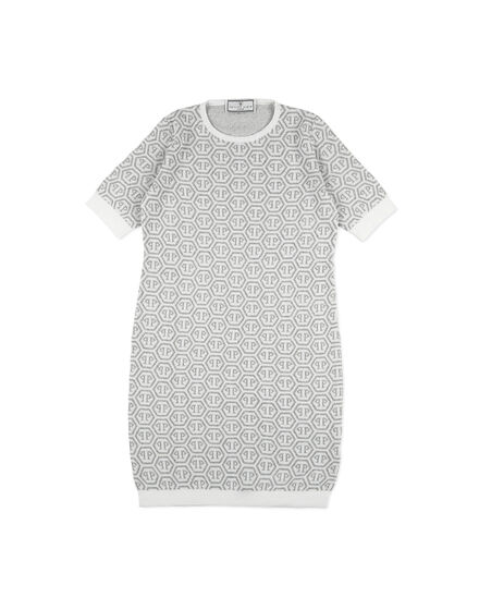 Knit Day Dress SS All over PP