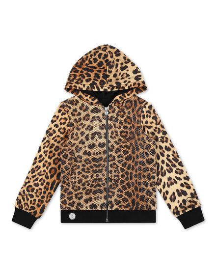 Hoodie Sweatjacket Leopard