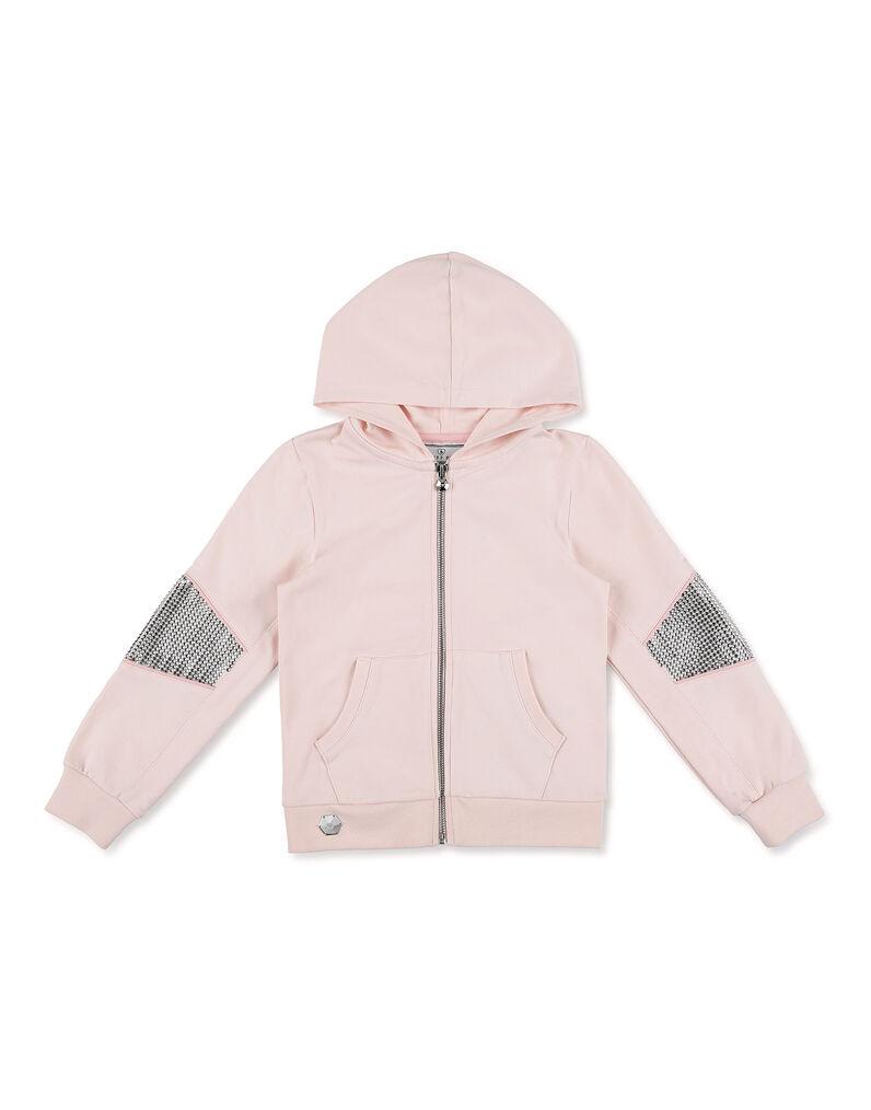Hoodie Sweatjacket Crystal Plein