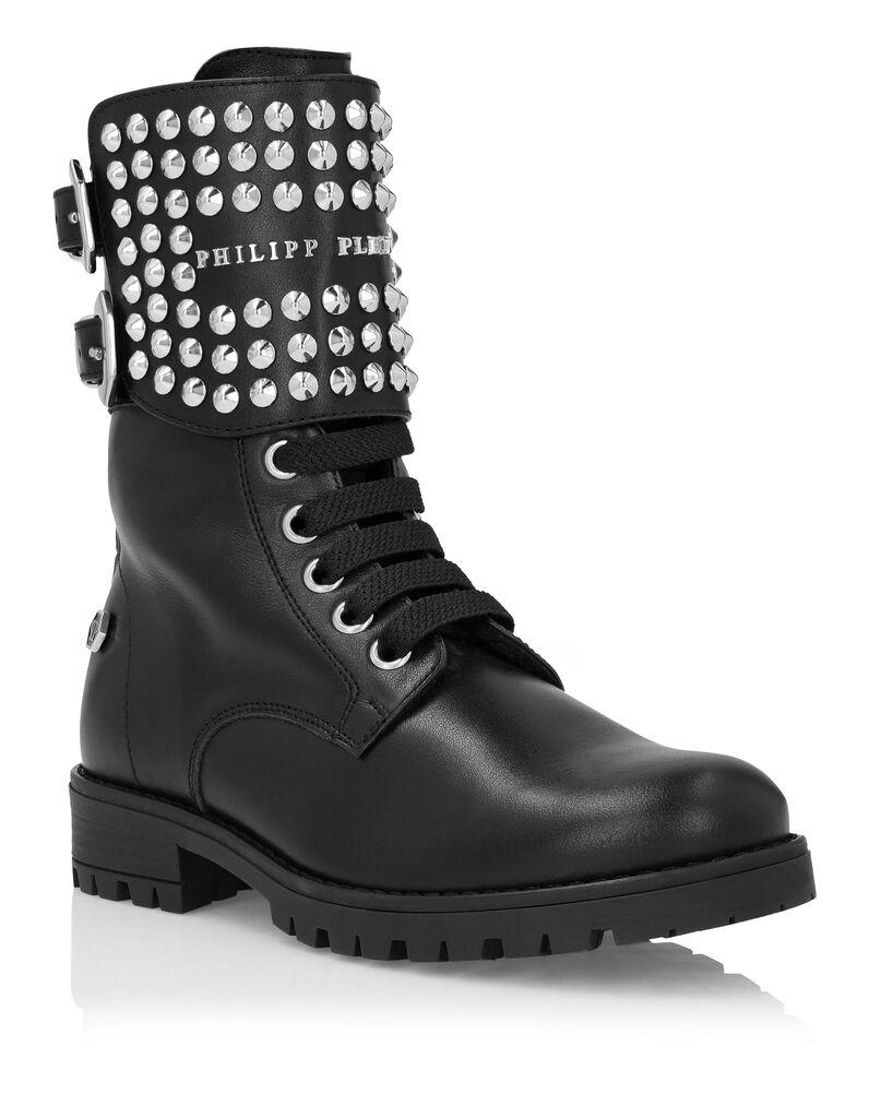Boots Mid Flat Studs