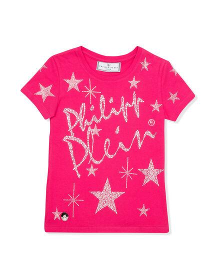 T-shirt Round Neck SS Shiny Signature