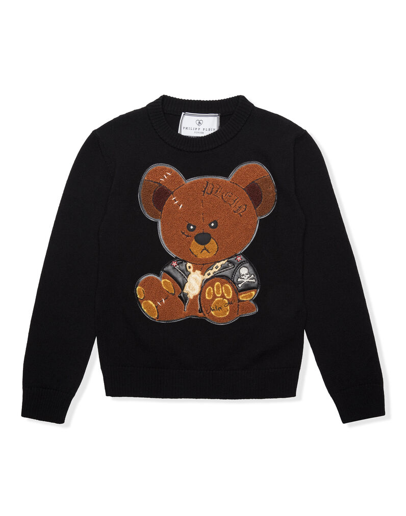 "Pullover Round Neck LS ""Teddy and Skull"""