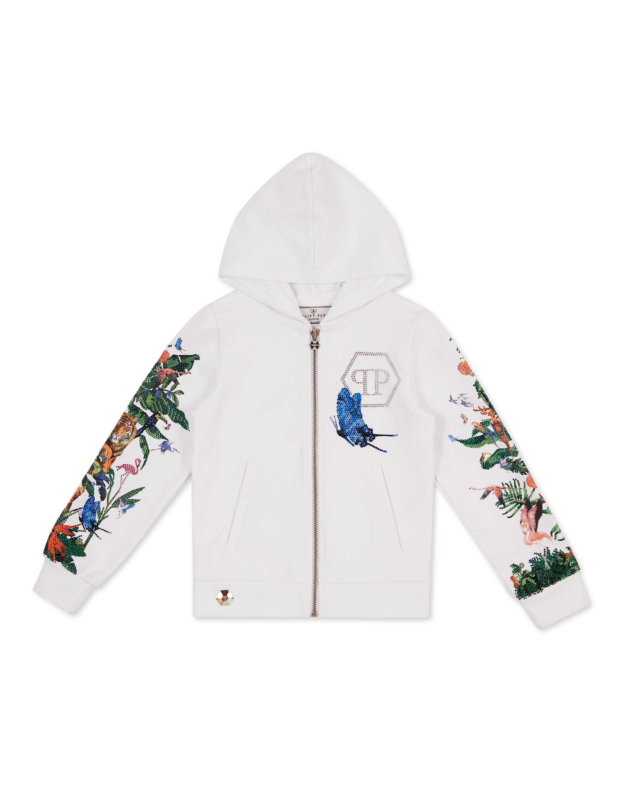 hoodie sweatjacket jungle philipp plein junior  hoodie sweatjacket jungle