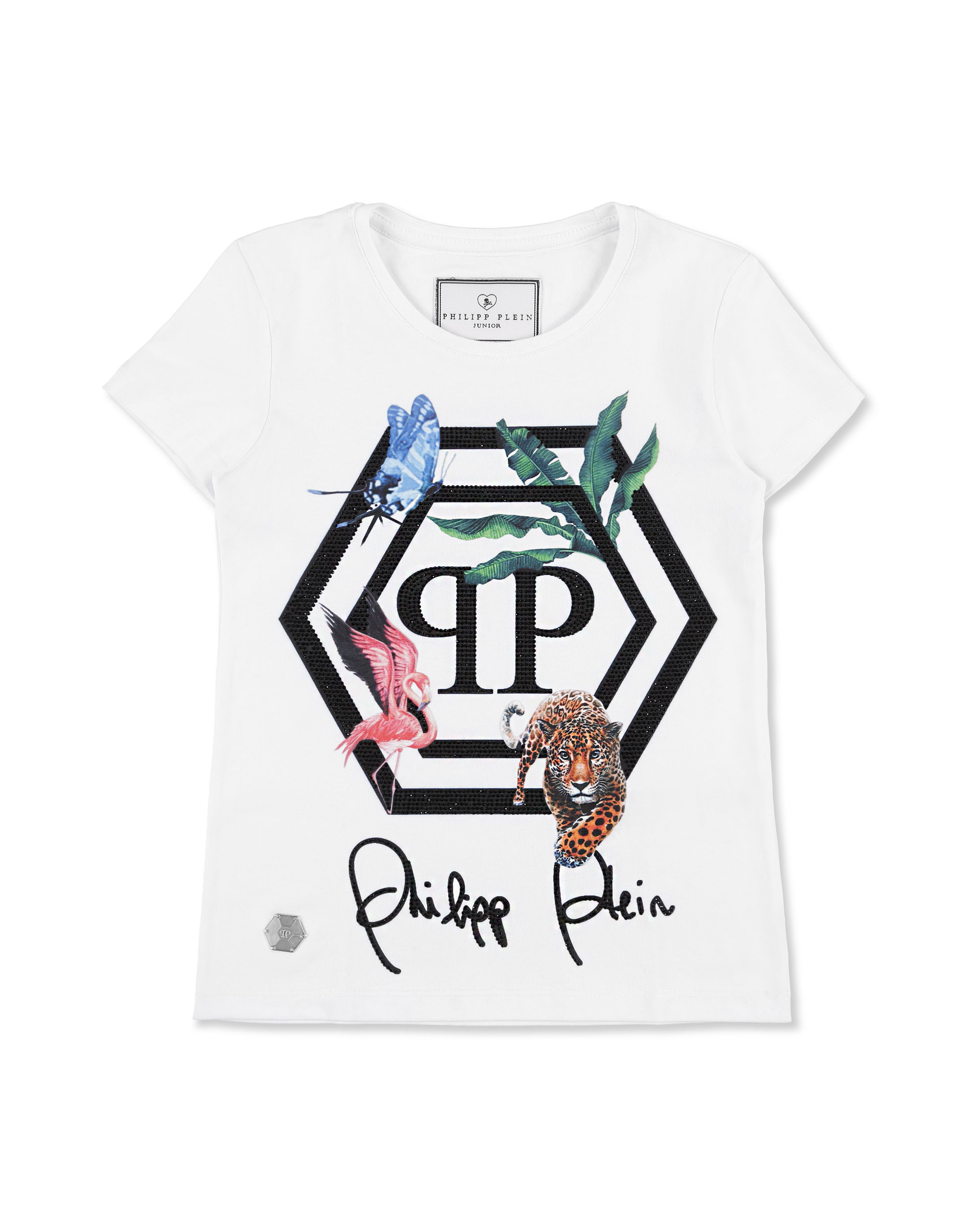 db3d9eaf4 T-shirt Round Neck SS Jungle | Philipp Plein Junior